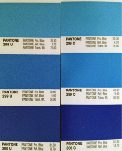 Pantone color chart for thermoforming